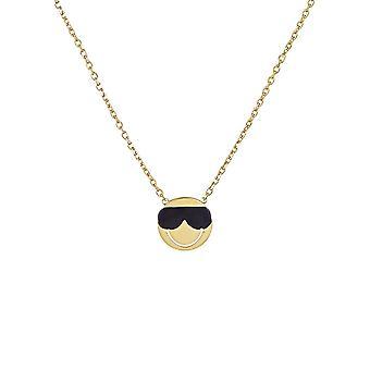 Smiley Vermeil yellow necklace 'apos;Cool';