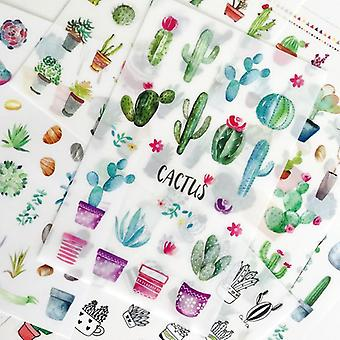 Green Cactus Pvc Stickers