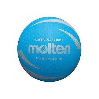 Fundido S2V1250-C Soft Touch Antideslizante y No Sting Rubber Blue Volleyball