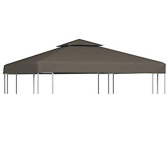vidaXL 2-stage pavilion roof 310 g / m2 3x3 m Taupe