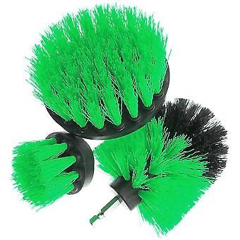 3x cepillos de limpieza de taladros - Verde