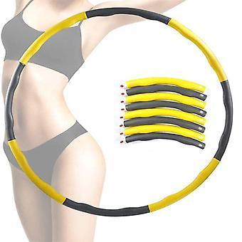 Detachable Hoola Hoop Yellow Slimming Hoop Exercise Equipment Hoops Fitness Hoop
