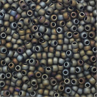 Toho Round Seed Beads 11/0 613 'Matte Iris Gray' 8 Gram Tube