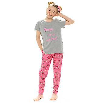 Foxbury Girls Melon Print Toppi ja leggingsit Pyjama Setti