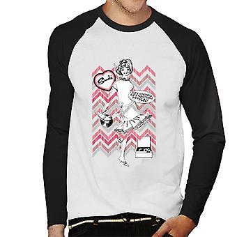 Sindy Shes Wonderful Shes Muodikas Shes Fun Miesten baseball pitkähihainen T-paita