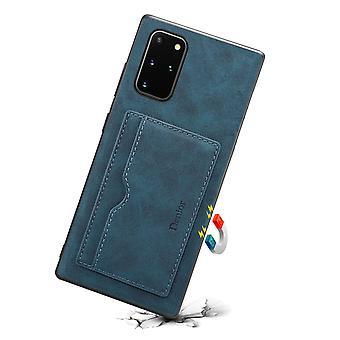 Portefeuille étui en cuir fente pour carte samsung s21plus / s30plus bleu pc738