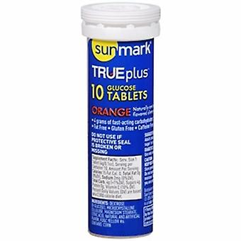 Sunmark Glucose Supplement sunmark TRUEplus 10 per Bottle Chewable Tablet Orange Flavor, 60 Count