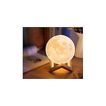 3d לעמוד ירח לילה אור דקורטיבי גלובוס הוביל סגנון חדר שינה בבית
