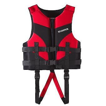 Xl سترة النجاة الحمراء للأطفال، السباحة المهنية الغطس سترة الطفو الدافئ az13170