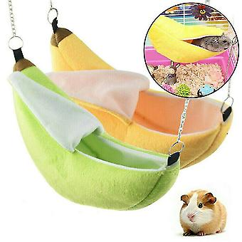 Novelty Banana Shape Nest Plush Cotton Hamster Warm House Hammock Rat Mouse Living House Hanging