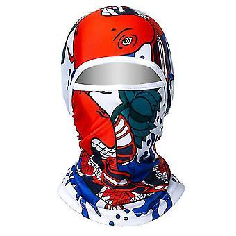 Ledová hedvábná opalovací pokrývka hlavy, kempování na kole lovící celoobradovou ochrannou masku