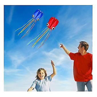 4m Grandes cometas de pulpo, cola larga hermosa fácil volante cometas de playa, para volar (rojo)