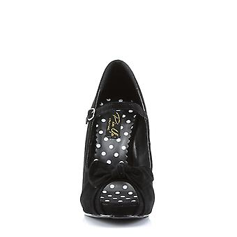 Pin Mujeres's Zapatos Up Blk Sueded Pu