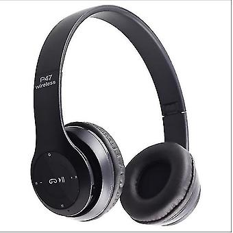 Foldable Wireless Bluetooth Sports Headphones,Noise Cancelling Earphones with Mic,Copoz(Black)