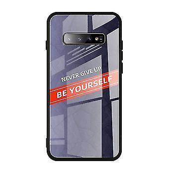 Self-Encouraged Tempered Glass Case for Samsung Galaxy S10 Lite / S10e - Blue