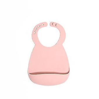 Vaaleanpunainen silikoni vauvan lappu vauvoille taaperoille 6-72 kuukautta vedenpitävä x3405