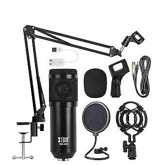 Arm bracket condenser mic for mobile recording broadcasting