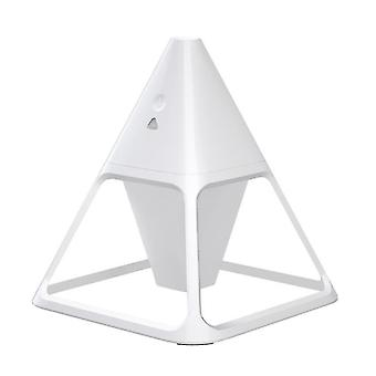 High quality pyramid humidifier household 140ml large capacity ultrasonic silent intelligent white #4576