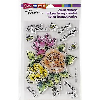 Stampendous Perfectly Clear Stamps - Roses Be Happy