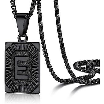"""925 Silve Initial Alphabate """"E""""Letter Necklace - 20 inch"""