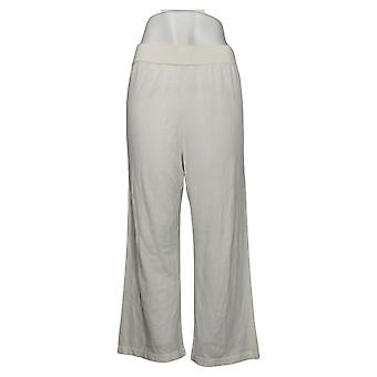 MarlaWynne Women's Pants Cropped Pull On White 655750