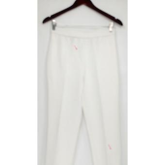 Susan Graver Pantalones de Mujer Ponte Pierna Recta Marfil A345008