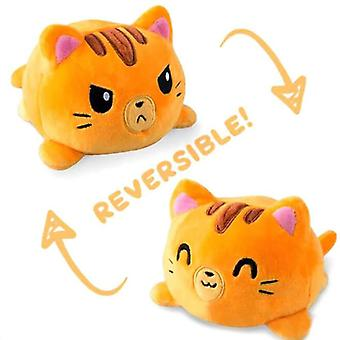 Mimigo Reversible Plushie Katze Soft Toys, doppelseitige Flip gefüllte Tier Stimmung Plüsch als Geschenk für Kinder & Erwachsene oder für Dekoration beste Geschenk 2021