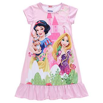 Girls Kids Cartoon Princess Dress Pajamas Nightdress Sleepwear Pjs