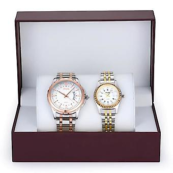 Stainless Steel Chronograph Couple Watch For Gift