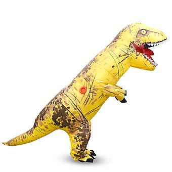 Sárga Tyrannosaurus (gyermek) Halloween Cosplay Tyrannosaurus Rex felfújható jelmez dinoszaurusz jelmez