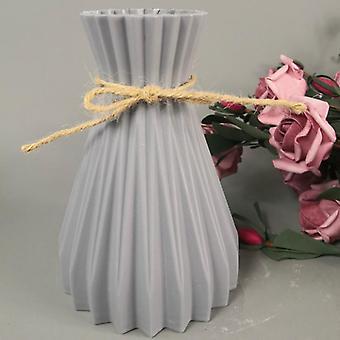 Vas dekoration plast vas imitation keramisk blomkruka7 * 17 * 10cm