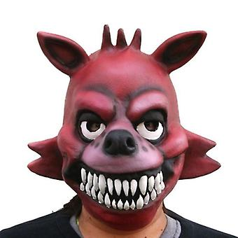 Halloween Party Mask Latex Mask Stage Performance Props Teddy Bear's Midnight Five Nights Hoth Mask Cos Dress Up