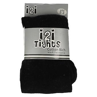Infant Girls i2i Cotton Rich Tights with Elastane