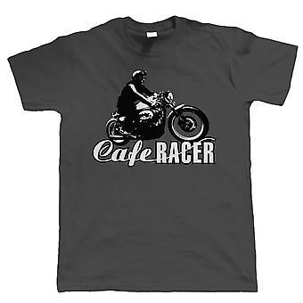 Cafe Racer Mens Vintage Biker T Shirt | Motocykl wyścigowy entuzjastów lat 50-tych lat 60-tych brytyjskich motocyklowe klub Chopper Cafe Racer Superbike Pan Biker | Boże Narodzenie fajne urodziny prezent mu syn tata męża