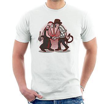 Raider Vs priester Indiana Jones Vs Mola Ram Temple of Doom Spy Vs Spy T-Shirt voor mannen