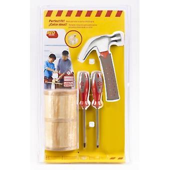Coffre à Trésor rouge boîte à outils et outils (emballage endommagé était£ 19,95)