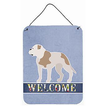 American Bulldog Welcome Wall or Door Hanging Prints