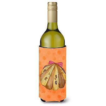 Sea Shell Orange Polkadot Wine Bottle Beverge Insulator Hugger