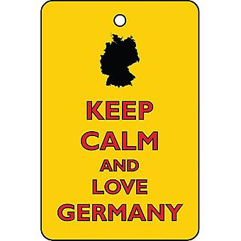 Keep Calm And Love Germany Car Air Freshener