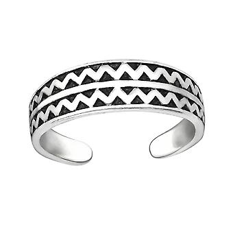 Zig Zag - 925 Sterling Silver Toe Rings - W32306x