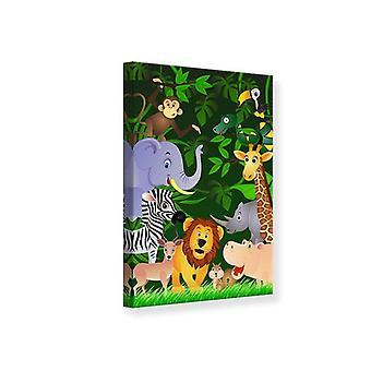 Leinwand-Druck Dschungel-Safari