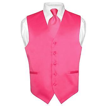 Męskie kamizelki sukienka & krawat stałe szyi krawat zestaw