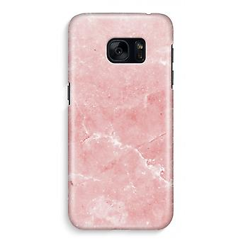Samsung S7 Full Print Case - Pink Marble