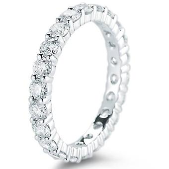 950 Platinum 2ct Diamond Eternity Wedding Ring