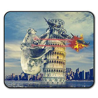 Pisa Tower Italy Funny  Non-Slip Mouse Mat Pad 24cm x 20cm | Wellcoda