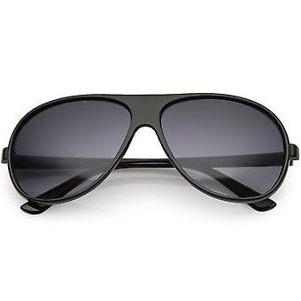 Retro Oversize płaski Aviator Okulary Teardrop obiektyw 64mm
