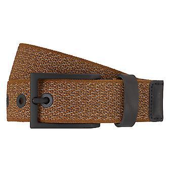 Ceintures de LLOYD hommes mesh ceintures, ceintures pour hommes en cuir Cognac 7193 nourri