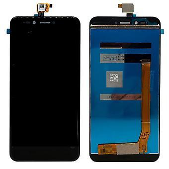 Volledige LCD beeldscherm touch reserveonderdelen voor WIKO Upulse reparatie zwart nieuw