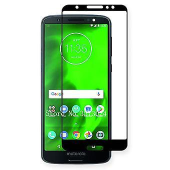 Pour Motorola Moto G6 plus 3D premium 0,3 mm H9 trempé couvercle de protection coulissant verre noir nouveau