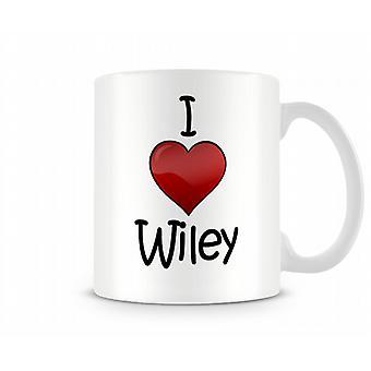 Ik hou van Wiley bedrukte mok